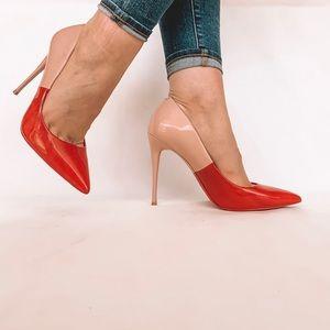 Womens Heels ALDO Stessy Red Nabuck